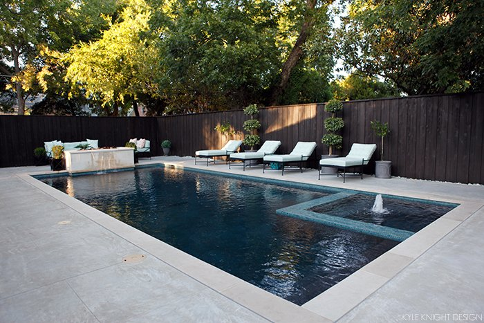 why pool builders quotes vary - Rectangle Pool With Water Feature